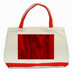 Stone Red Volcano Classic Tote Bag (red) by Mariart