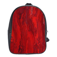 Stone Red Volcano School Bags(large)