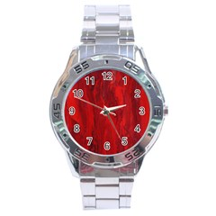 Stone Red Volcano Stainless Steel Analogue Watch by Mariart