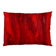 Stone Red Volcano Pillow Case (two Sides) by Mariart