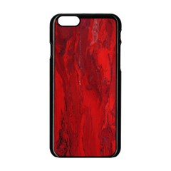 Stone Red Volcano Apple Iphone 6/6s Black Enamel Case by Mariart