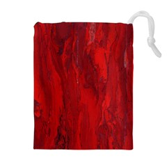 Stone Red Volcano Drawstring Pouches (extra Large) by Mariart