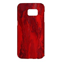 Stone Red Volcano Samsung Galaxy S7 Edge Hardshell Case by Mariart