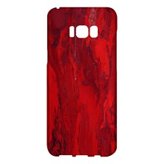 Stone Red Volcano Samsung Galaxy S8 Plus Hardshell Case  by Mariart