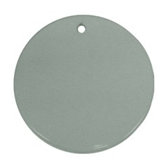 Ash Gray Solid Color  Ornament (round) by SimplyColor