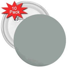 Ash Gray Solid Color  3  Buttons (10 Pack)  by SimplyColor