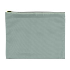 Ash Gray Solid Color  Cosmetic Bag (xl) by SimplyColor