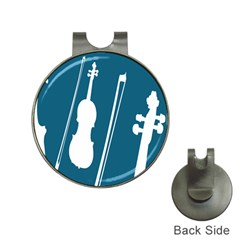 Violin Music Blue Hat Clips With Golf Markers by Mariart