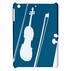 Violin Music Blue Apple Ipad Mini Hardshell Case by Mariart