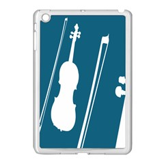 Violin Music Blue Apple Ipad Mini Case (white) by Mariart