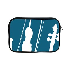 Violin Music Blue Apple Ipad Mini Zipper Cases by Mariart