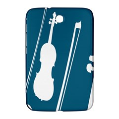 Violin Music Blue Samsung Galaxy Note 8 0 N5100 Hardshell Case  by Mariart