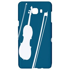 Violin Music Blue Samsung C9 Pro Hardshell Case  by Mariart