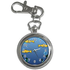 Water Bubbles Fish Seaworld Blue Key Chain Watches by Mariart