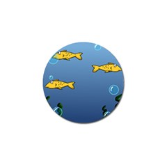 Water Bubbles Fish Seaworld Blue Golf Ball Marker (4 Pack) by Mariart