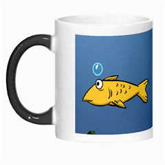 Water Bubbles Fish Seaworld Blue Morph Mugs by Mariart