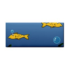 Water Bubbles Fish Seaworld Blue Cosmetic Storage Cases by Mariart