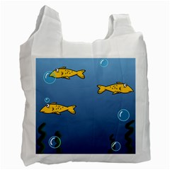Water Bubbles Fish Seaworld Blue Recycle Bag (one Side) by Mariart