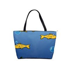 Water Bubbles Fish Seaworld Blue Shoulder Handbags by Mariart