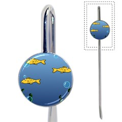 Water Bubbles Fish Seaworld Blue Book Mark by Mariart