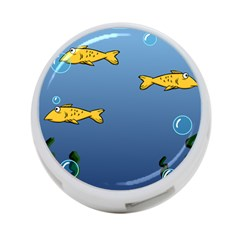 Water Bubbles Fish Seaworld Blue 4 Port Usb Hub (one Side) by Mariart