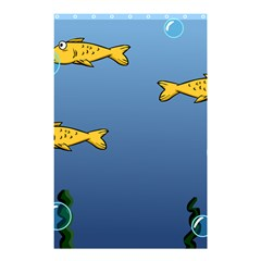 Water Bubbles Fish Seaworld Blue Shower Curtain 48  X 72  (small)  by Mariart