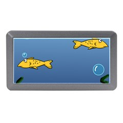 Water Bubbles Fish Seaworld Blue Memory Card Reader (mini) by Mariart