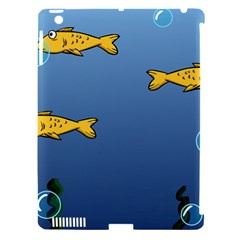 Water Bubbles Fish Seaworld Blue Apple Ipad 3/4 Hardshell Case (compatible With Smart Cover) by Mariart