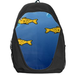 Water Bubbles Fish Seaworld Blue Backpack Bag by Mariart