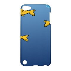Water Bubbles Fish Seaworld Blue Apple Ipod Touch 5 Hardshell Case by Mariart
