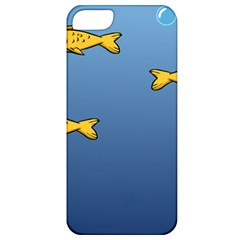 Water Bubbles Fish Seaworld Blue Apple Iphone 5 Classic Hardshell Case by Mariart