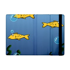 Water Bubbles Fish Seaworld Blue Apple Ipad Mini Flip Case by Mariart