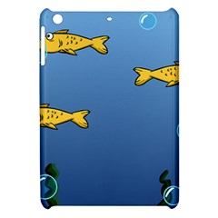 Water Bubbles Fish Seaworld Blue Apple Ipad Mini Hardshell Case by Mariart