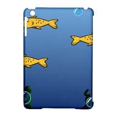 Water Bubbles Fish Seaworld Blue Apple Ipad Mini Hardshell Case (compatible With Smart Cover) by Mariart