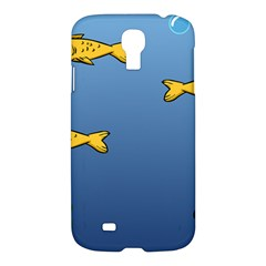 Water Bubbles Fish Seaworld Blue Samsung Galaxy S4 I9500/i9505 Hardshell Case by Mariart