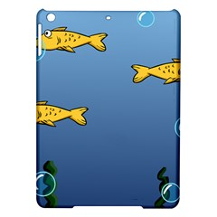 Water Bubbles Fish Seaworld Blue Ipad Air Hardshell Cases by Mariart