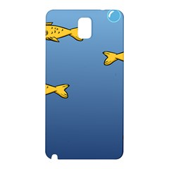 Water Bubbles Fish Seaworld Blue Samsung Galaxy Note 3 N9005 Hardshell Back Case by Mariart