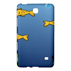 Water Bubbles Fish Seaworld Blue Samsung Galaxy Tab 4 (7 ) Hardshell Case  by Mariart