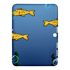 Water Bubbles Fish Seaworld Blue Samsung Galaxy Tab 4 (10 1 ) Hardshell Case  by Mariart
