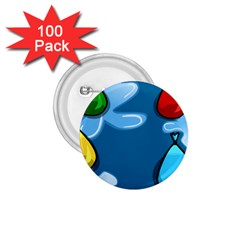 Water Balloon Blue Red Green Yellow Spot 1 75  Buttons (100 Pack)  by Mariart