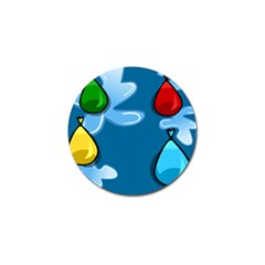 Water Balloon Blue Red Green Yellow Spot Golf Ball Marker (4 Pack) by Mariart