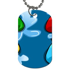 Water Balloon Blue Red Green Yellow Spot Dog Tag (two Sides) by Mariart