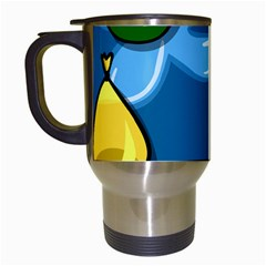 Water Balloon Blue Red Green Yellow Spot Travel Mugs (white) by Mariart