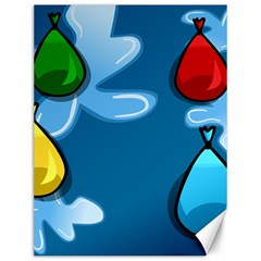 Water Balloon Blue Red Green Yellow Spot Canvas 12  X 16   by Mariart
