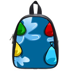 Water Balloon Blue Red Green Yellow Spot School Bags (small)  by Mariart