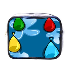 Water Balloon Blue Red Green Yellow Spot Mini Toiletries Bags by Mariart
