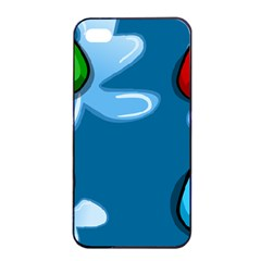Water Balloon Blue Red Green Yellow Spot Apple Iphone 4/4s Seamless Case (black) by Mariart