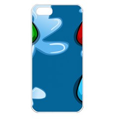 Water Balloon Blue Red Green Yellow Spot Apple Iphone 5 Seamless Case (white) by Mariart