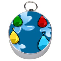 Water Balloon Blue Red Green Yellow Spot Silver Compasses by Mariart