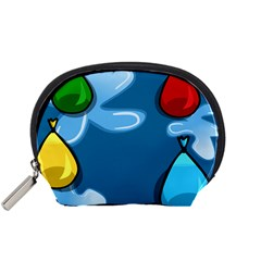 Water Balloon Blue Red Green Yellow Spot Accessory Pouches (small)